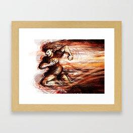 Rugby Rumblr Framed Art Print