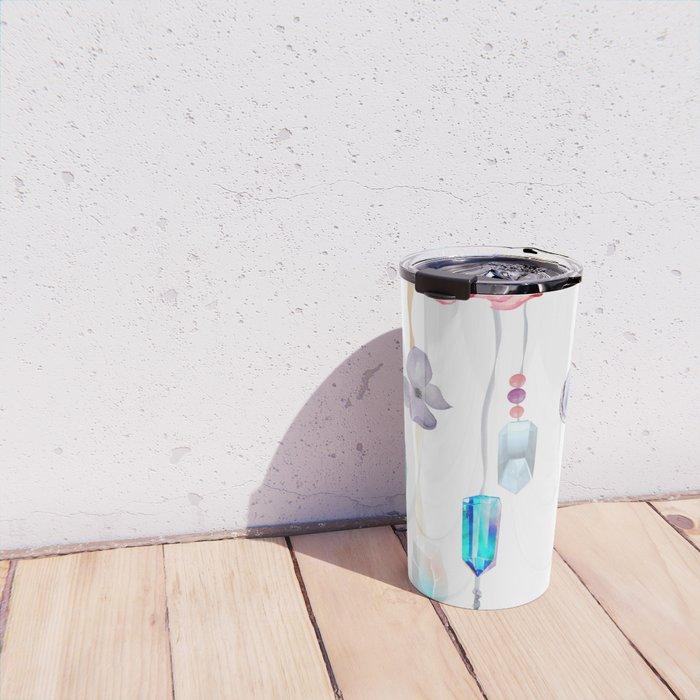 Spirit Gazer With Crystals And Succulents Travel Mug