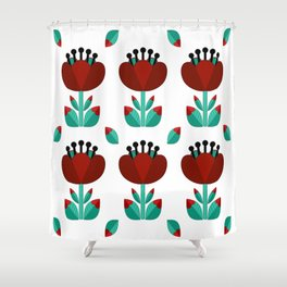 Tulip and Love Leaf Shower Curtain
