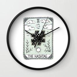 The Hashtag Wall Clock