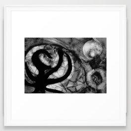 erased Framed Art Print