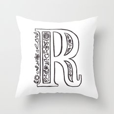 R is for Throw Pillow