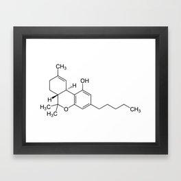 THC Molecule Framed Art Print