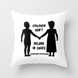 Where Are The Children? Throw Pillow