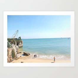 Beach - Cascais Lisbon Art Print