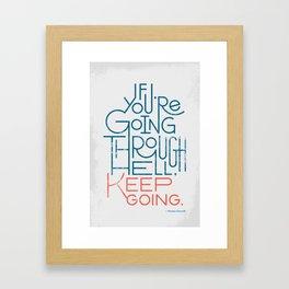 Keep Going Framed Art Print