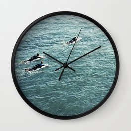 The Paddle out Wall Clock