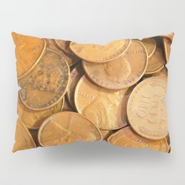 Watercolor Coins, Lincoln Wheat Pennies, 1952 01 Pillow Sham