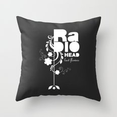 Radiohead song - Last flowers illustration white Throw Pillow