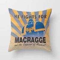 propaganda Throw Pillows featuring Ultramarines Propaganda by HenkusFilijokus