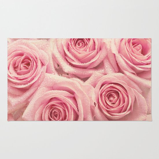 For The Love Of Pink Roses Rug