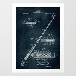 1917 - Billiard cue Art Print