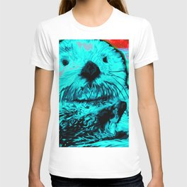 Sea Otter, mint green T-shirt