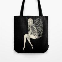 antler Tote Bags featuring ANTLER by auntikatar