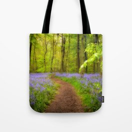Bluebells path Tote Bag