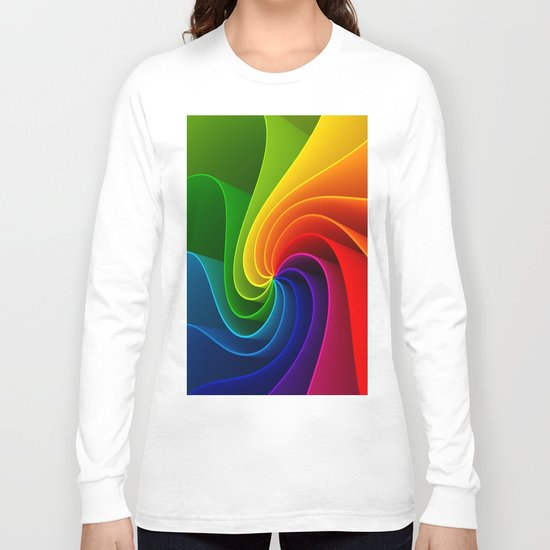 Colorful Spirals Long Sleeve T-shirt
