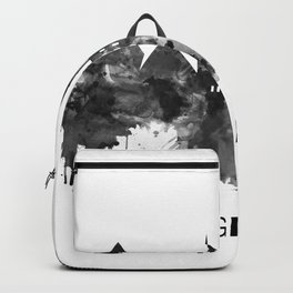 Giza Egypt Skyline BW Backpack