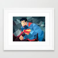dc comics Framed Art Prints featuring DC Comics Man of Steel by Eric Dufresne