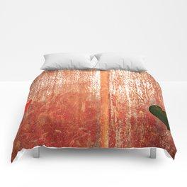 Metallic Face (Red Version) Comforters