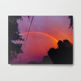 neon rainbows Metal Print