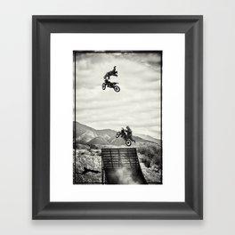 gozillas ride Framed Art Print