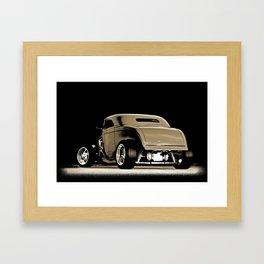 1932 Ford Hot Road Sepia Framed Art Print