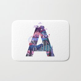 365 Days of Type Letter A Illustration Bath Mat