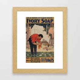 Ivory Soap Framed Art Print