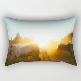 Bagan Sunrise Rectangular Pillow