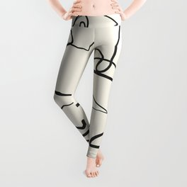 Abstract line art 12 Leggings