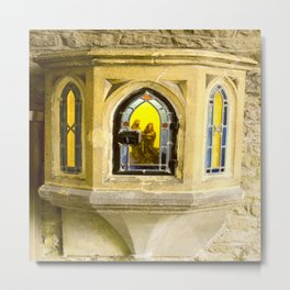 Nativity in Ancient Stone Wall Metal Print