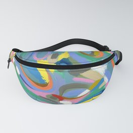 Northwest Teal: Colorful Abstract Painting Modern Art Fanny Pack