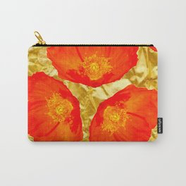 GOLD FOIL SETTING FOR ORANGE POPPIES Carry-All Pouch