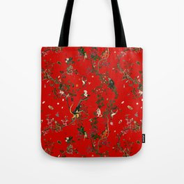 Monkey World Red Tote Bag