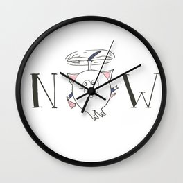 Pigs can fly Wall Clock