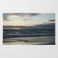 santa monica Area & Throw Rugs featuring Santa Monica Sunset by Ivanna Mauricio