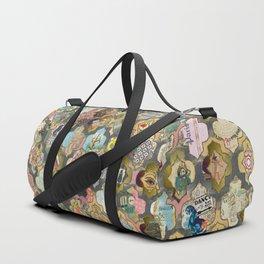 Patchwork grid society matrix Duffle Bag