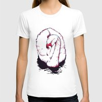 swan T-shirts featuring Swan by Oxana Art