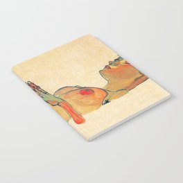 Egon Schiele - Orange knuckles and nipples (new color edit) Notebook