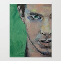 street fighter Canvas Prints featuring Fighter by Michael Creese