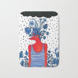 Flowery fox Bath Mat