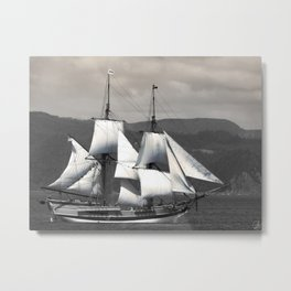 The Ocean in the Sky, sailboat, pirates Metal Print