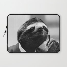 Gentleman Sloth smoking a cigarette Laptop Sleeve