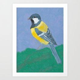 Paridae (Great Tit Bird) Art Print