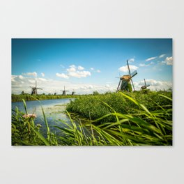 The wind mills of the Netherlands Canvas Print