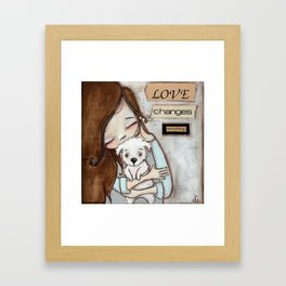 Love Changes Everything by Diane Duda Framed Art Print
