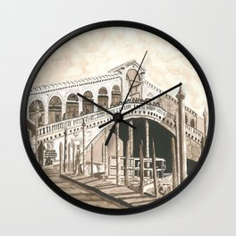 Rialto bridge Wall Clock