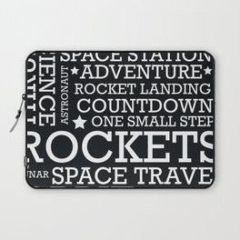 Space Text inspirational poster. Laptop Sleeve