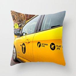 NYC Cabs Throw Pillow