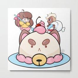 REAACIPE Cake Metal Print